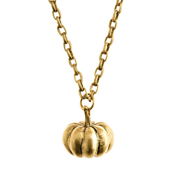 Pumpkin Necklace in Gold