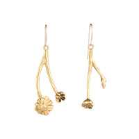 Battery Bowman Root Earrings