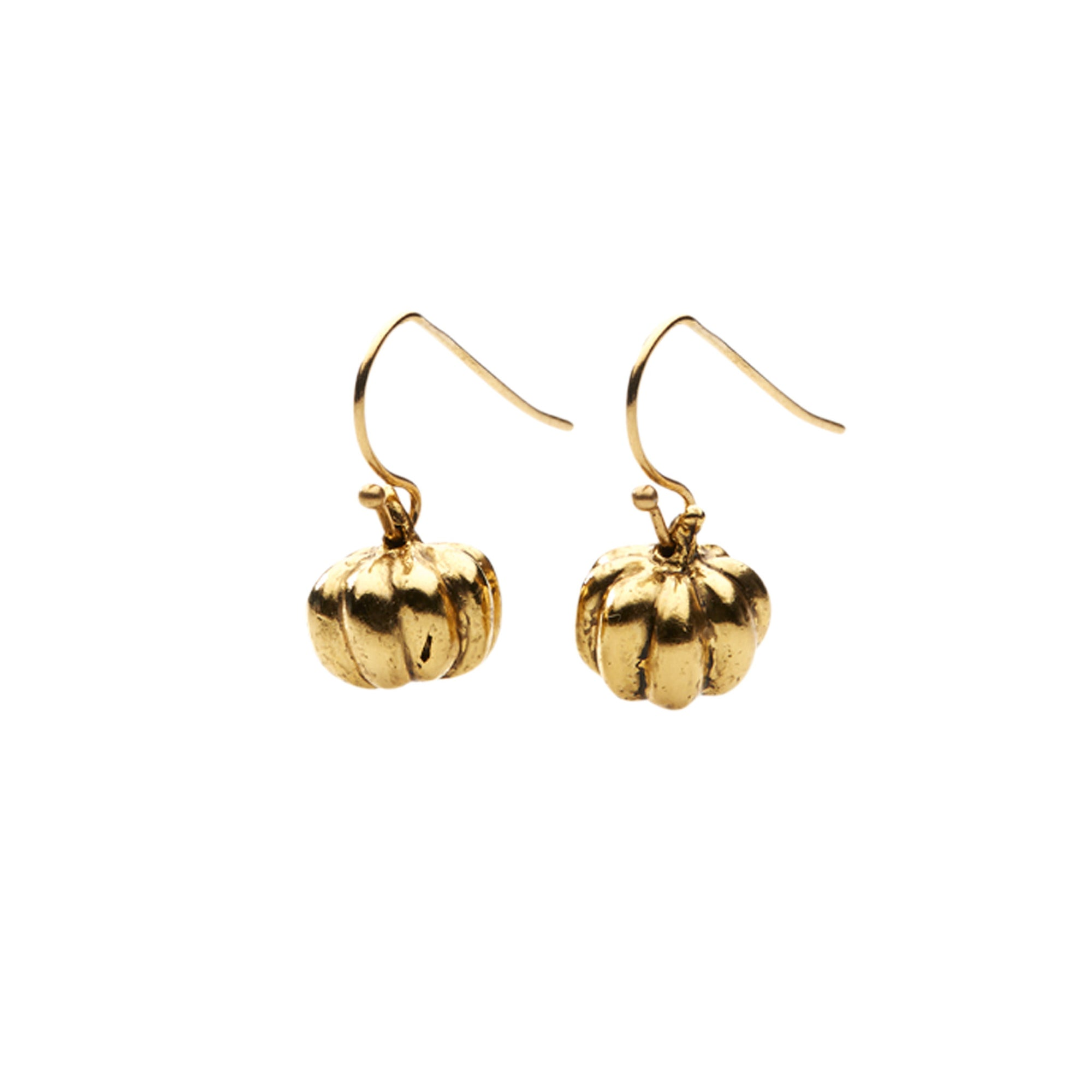Pumpkin Earrings in Gold