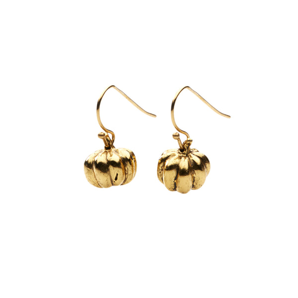 Gold Pumpkin Earrings