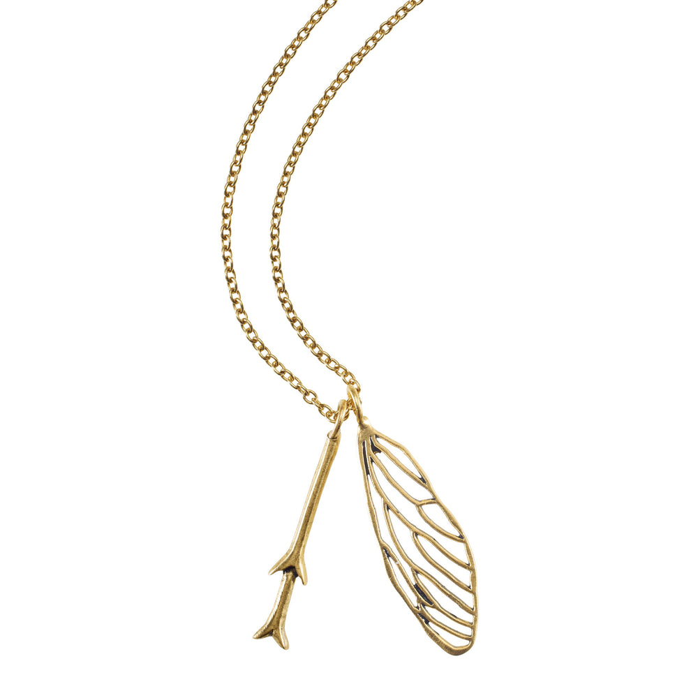 Cicada Wing and Feeler Necklace