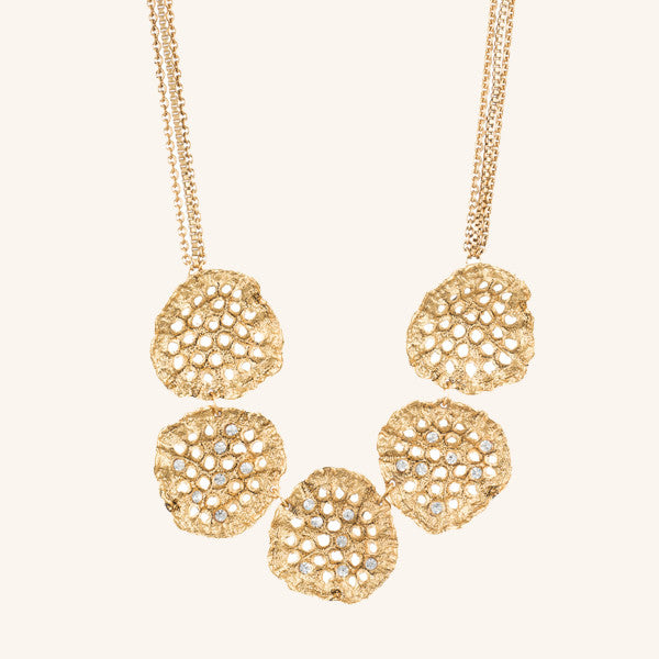 Lotus Pod Statement Necklace
