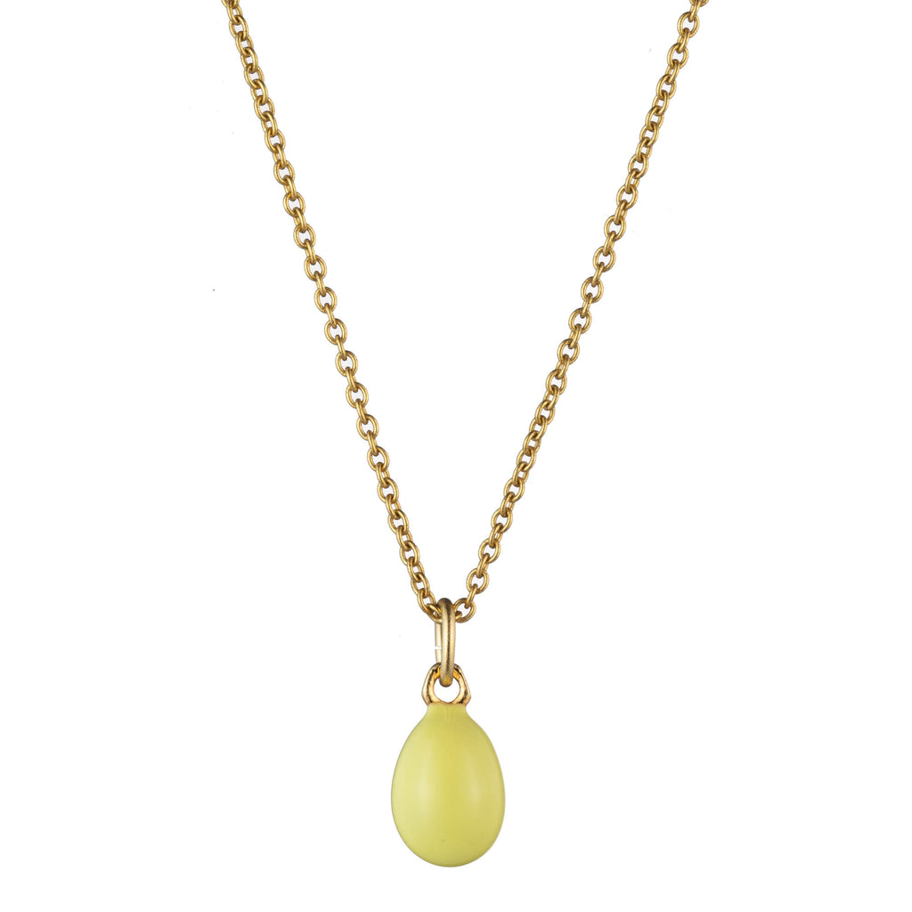 Yellow Egg Necklace
