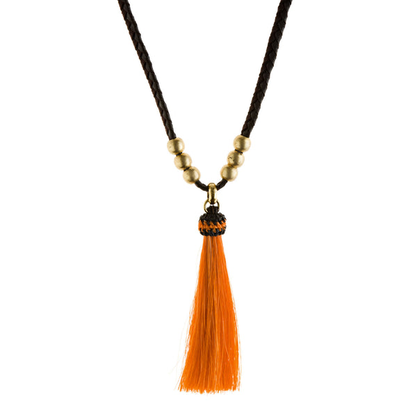 Horse Tassel Cinnamon  Necklace
