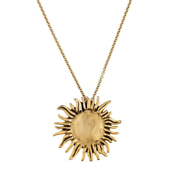 Sunflower Large Pendant Necklace