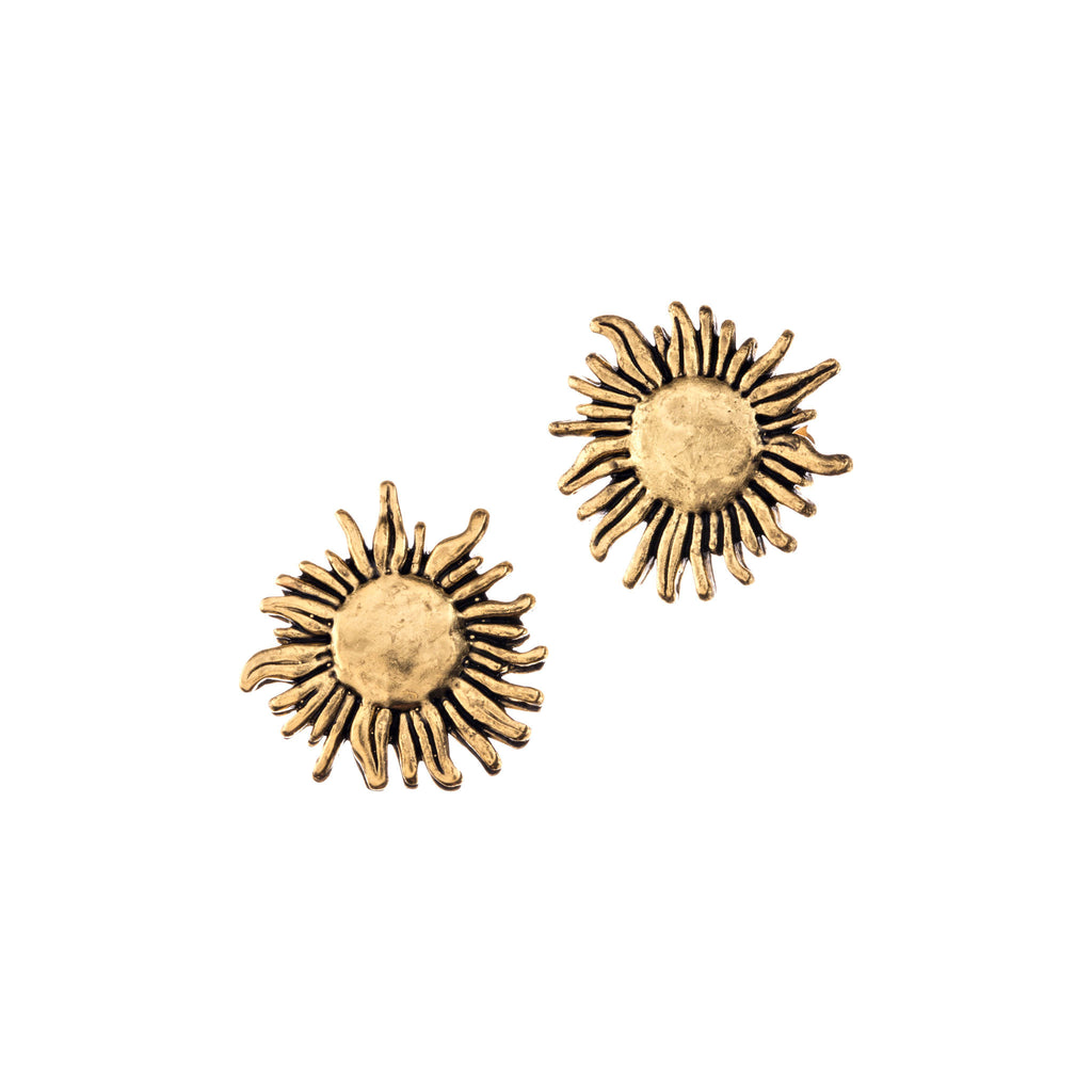 Gold Sunflower Earrings Stud for Women