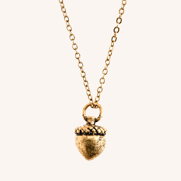 Small Acorn Necklace