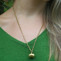 Gold Pumpkin Necklace