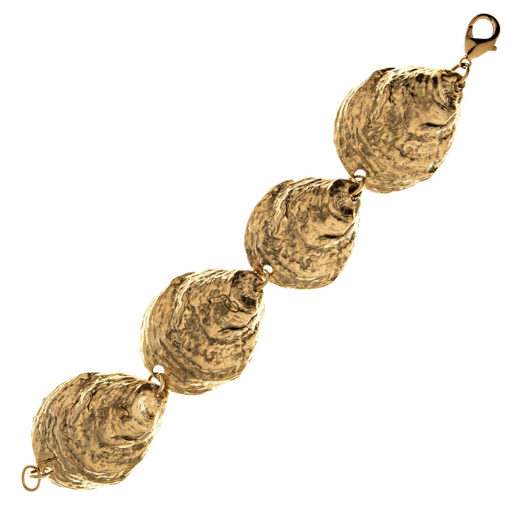 Oyster Shell Bracelet in Gold