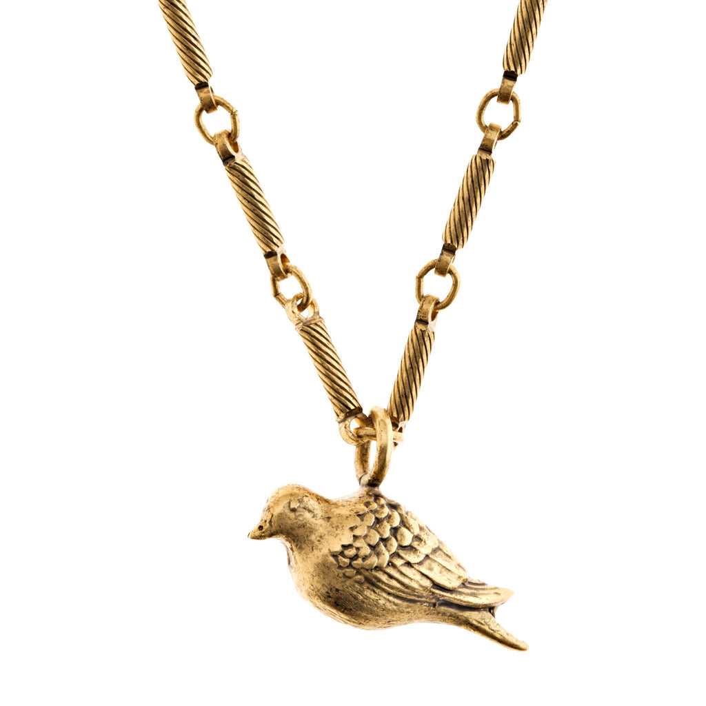 handmade peace dove necklace