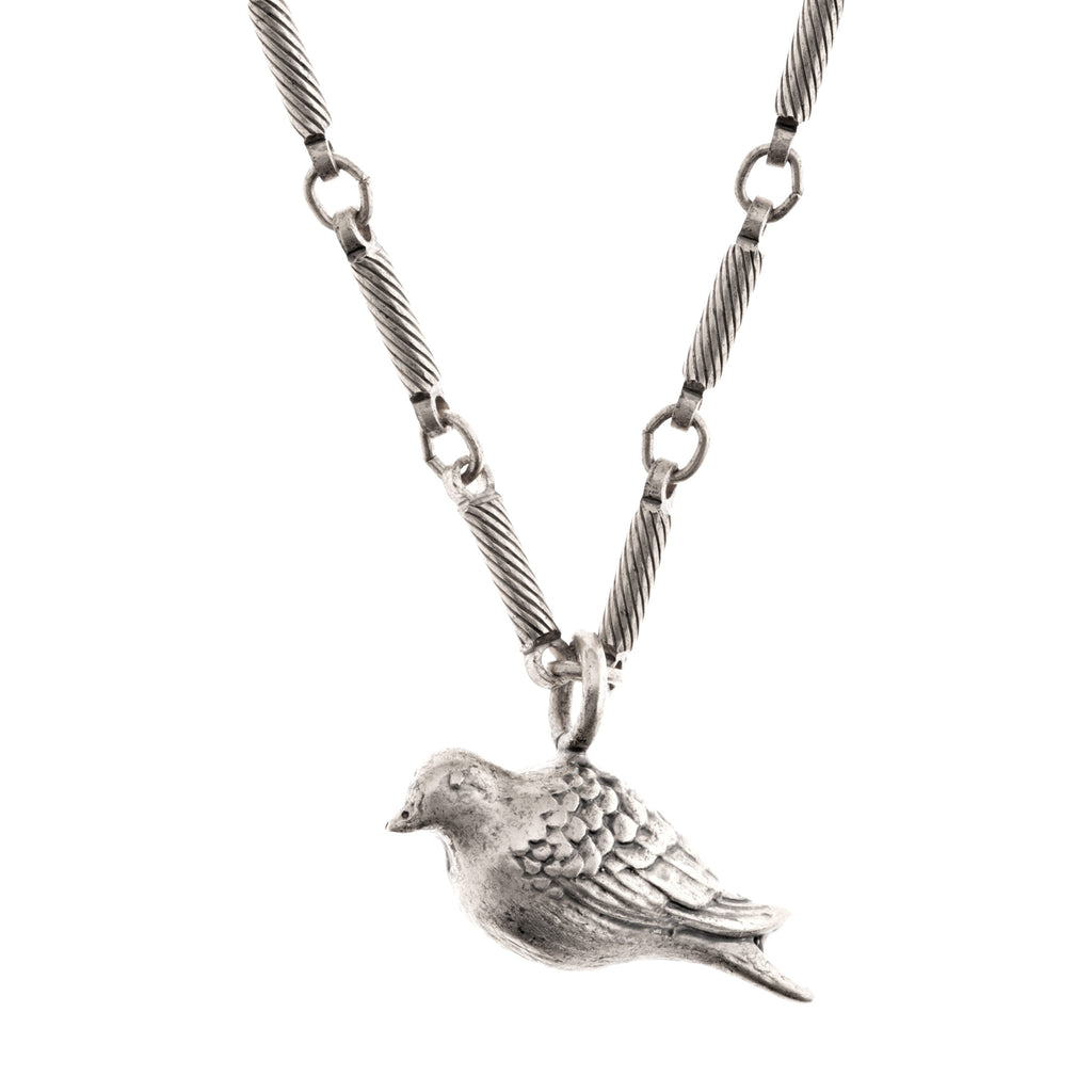 hand crafted peace dove necklace