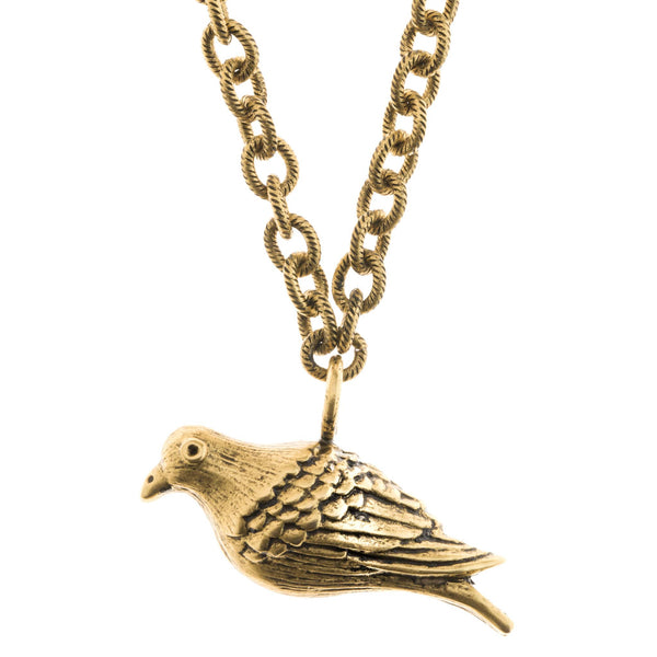 large Peace Dove Necklace