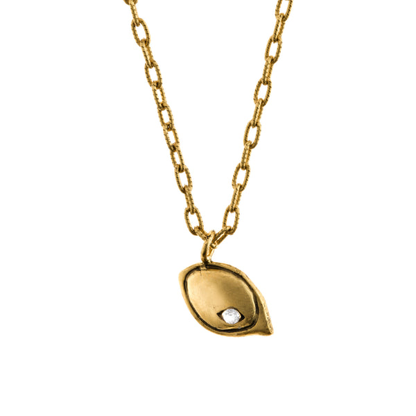 Squash Necklace in Gold