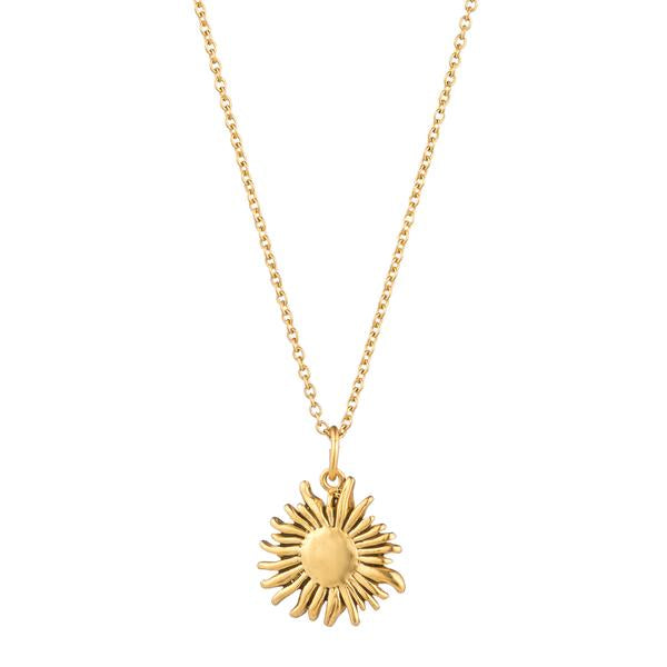 Golden Sunflower Necklace Pendant