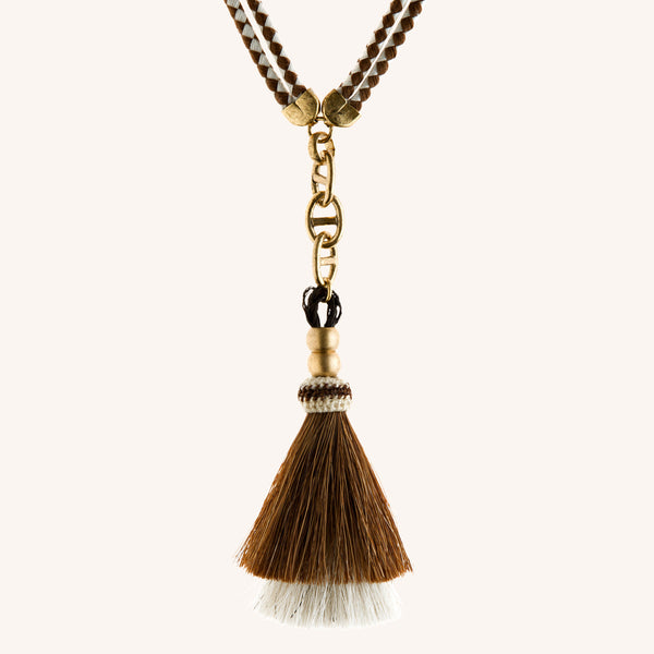Brown Whinny Necklace