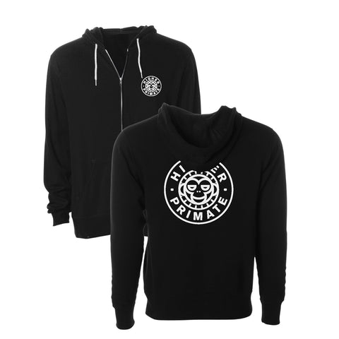 Cirlce Monkey Zip Up Hood