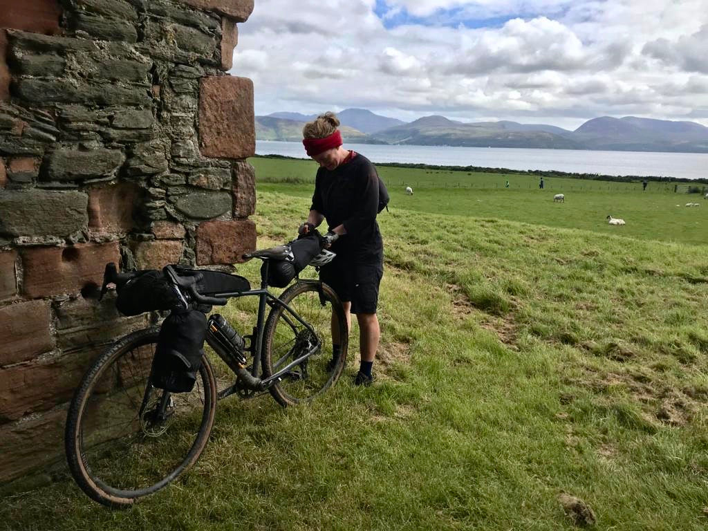 bikepacking scotland saddle bag