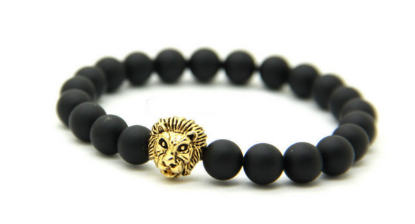 Matte Gold Lion of Judah Bracelet