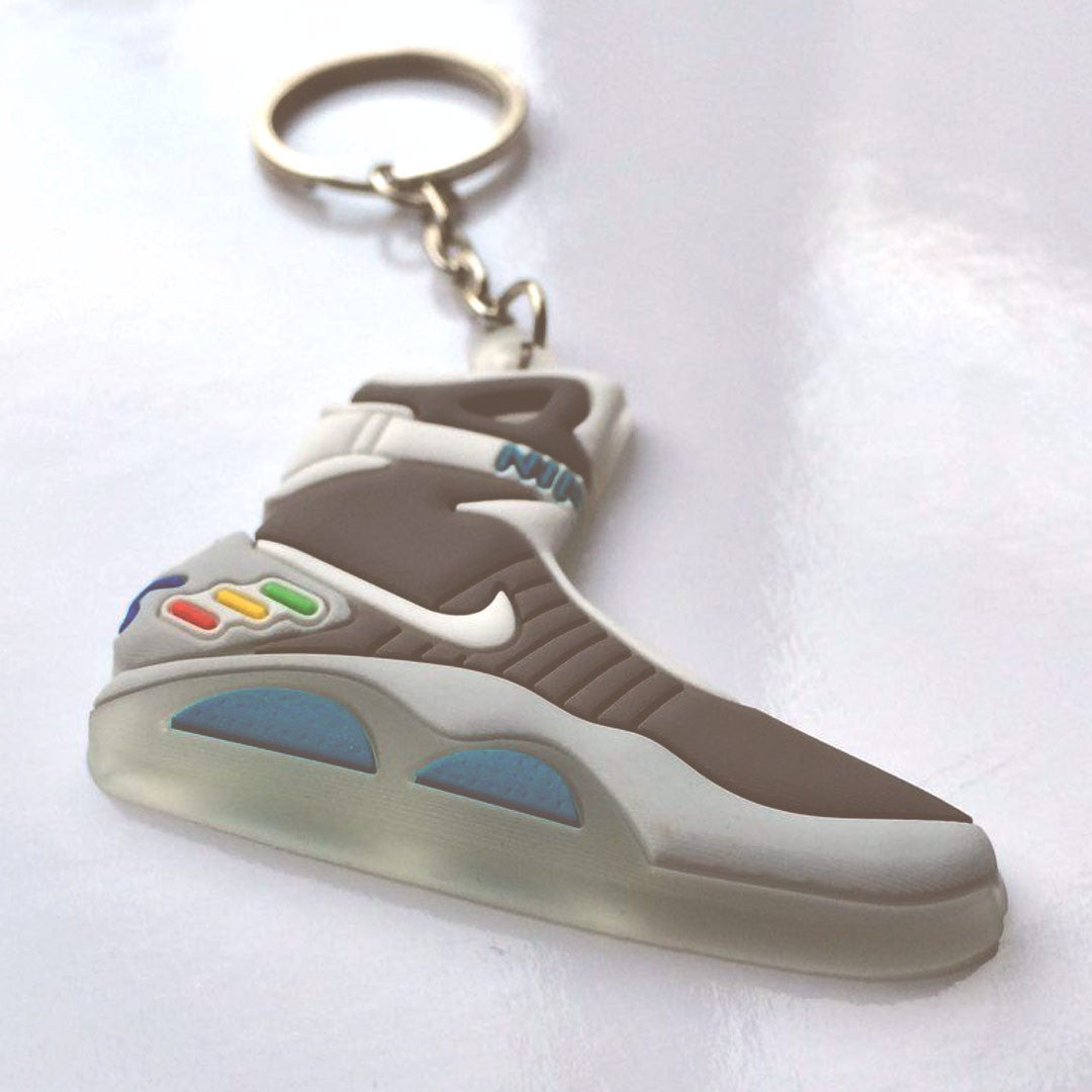 6e543e535253 Glow-in-the-dark Back to The Future  Air Mag  Sneaker Keychain - So ...