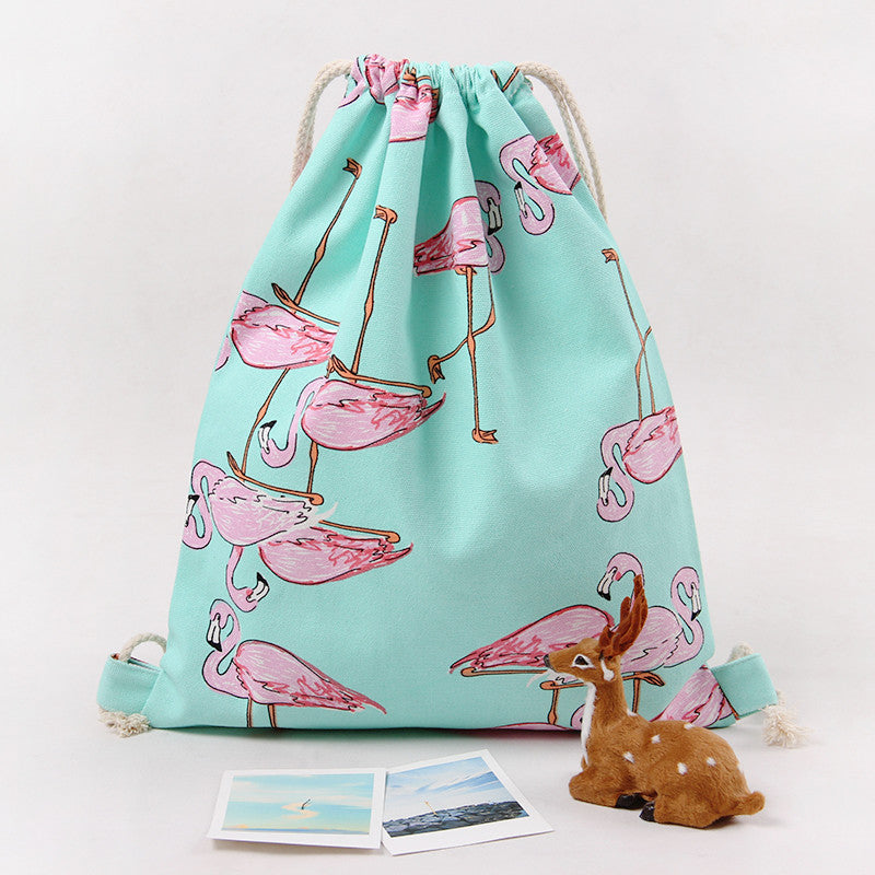 'Flamingo' Drawstring Bag