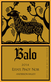 "Balo Pinot Noir ""Estate"" 2014 (Anderson Valley)"