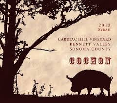 "Cochon Syrah ""Cardiac Hill Vineyard"" (Bennett Valley) 2013"