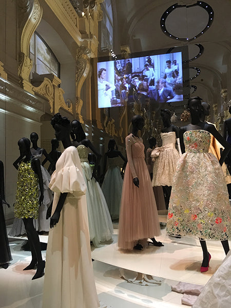 Dior ball gowns exhibit.