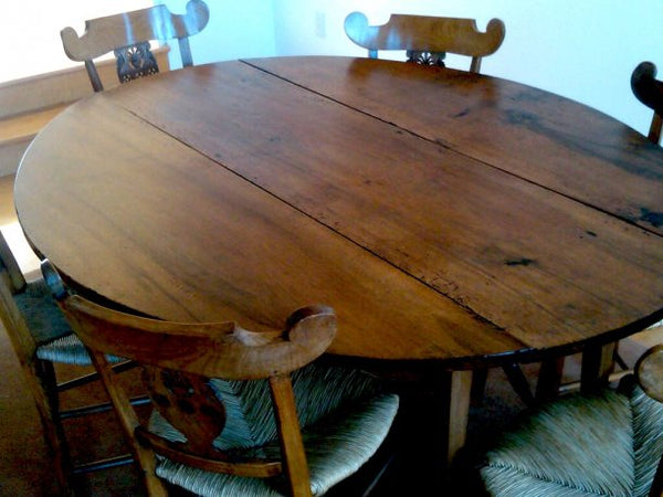 A Table Polished Using Christophe Pourny Furniture Tonic.  Beautiful Results!