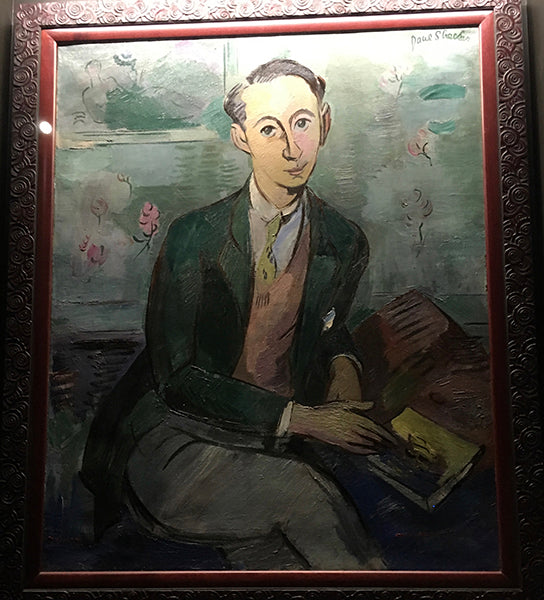 Painted portrait of Christian Dior by John Strecker