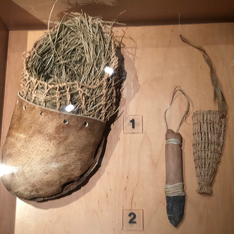 Footwear and tools of the Ötzi man