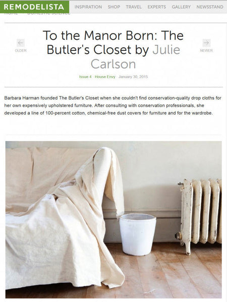 To The Manor Born:The Butler's Closet by Julie Carlson www.remodelista.com