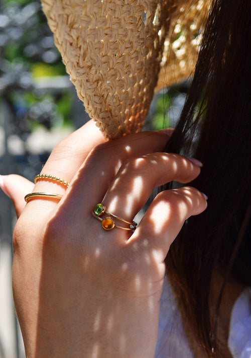 Sloane peridot stacking ring