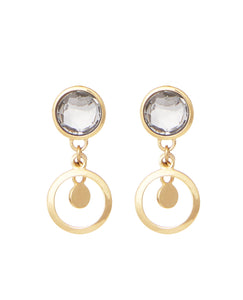 Veronica drop earring crystal quartz