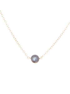 Victoria blue pearl necklace