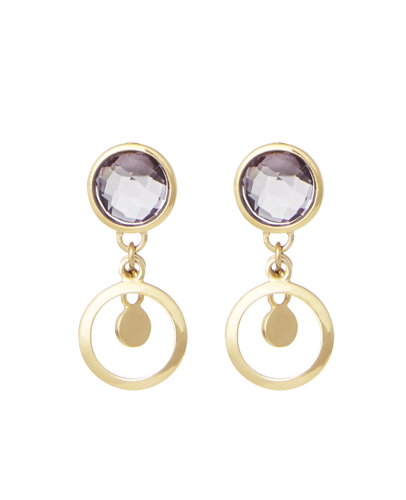 Veronica drop earring amethyst