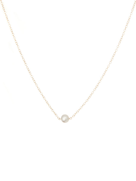 Victoria light grey pearl necklace