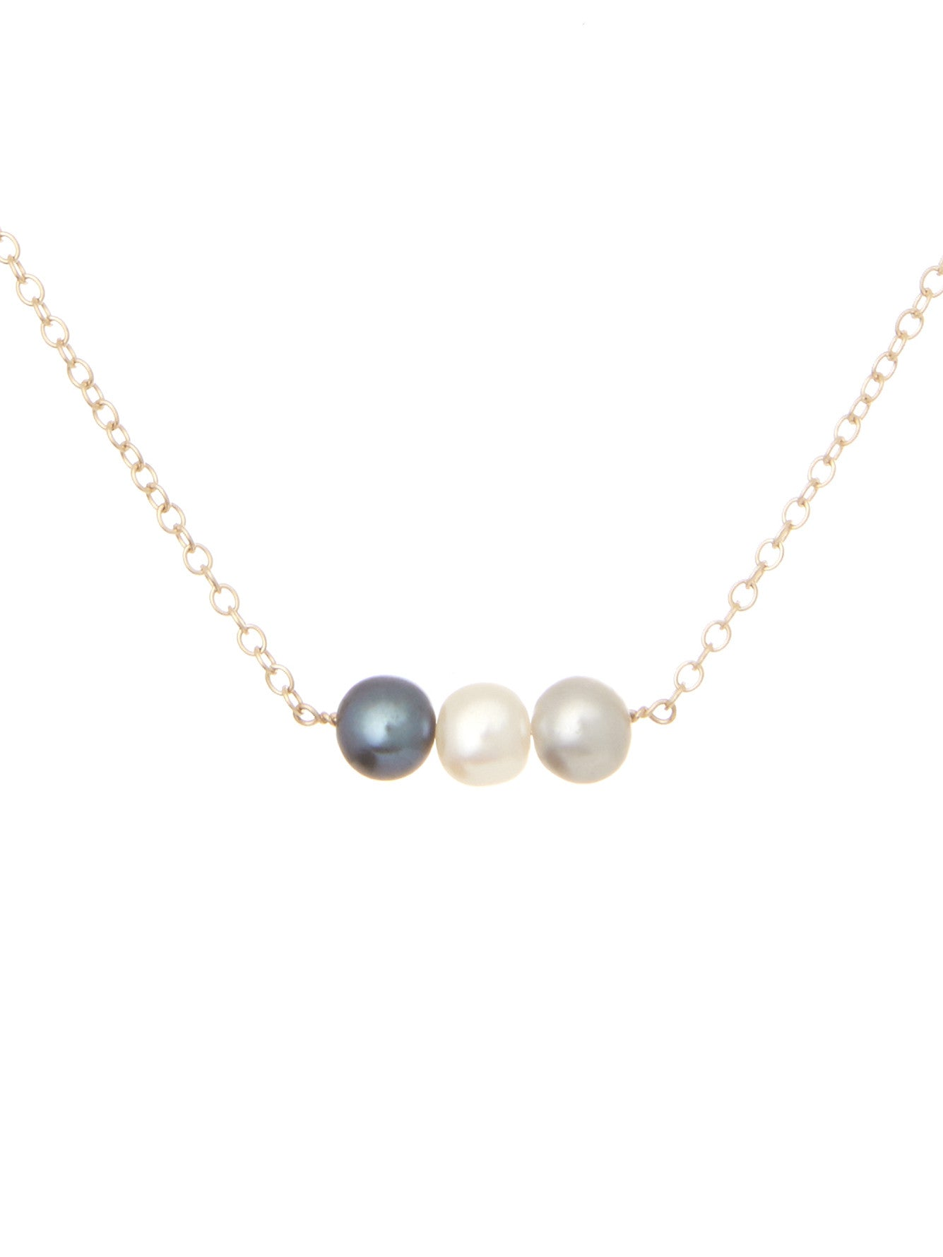winterson multi in coloured freshwater necklace pink grey silver pearl and white with