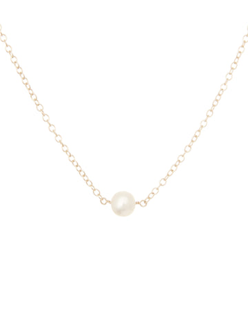 Victoria white pearl necklace