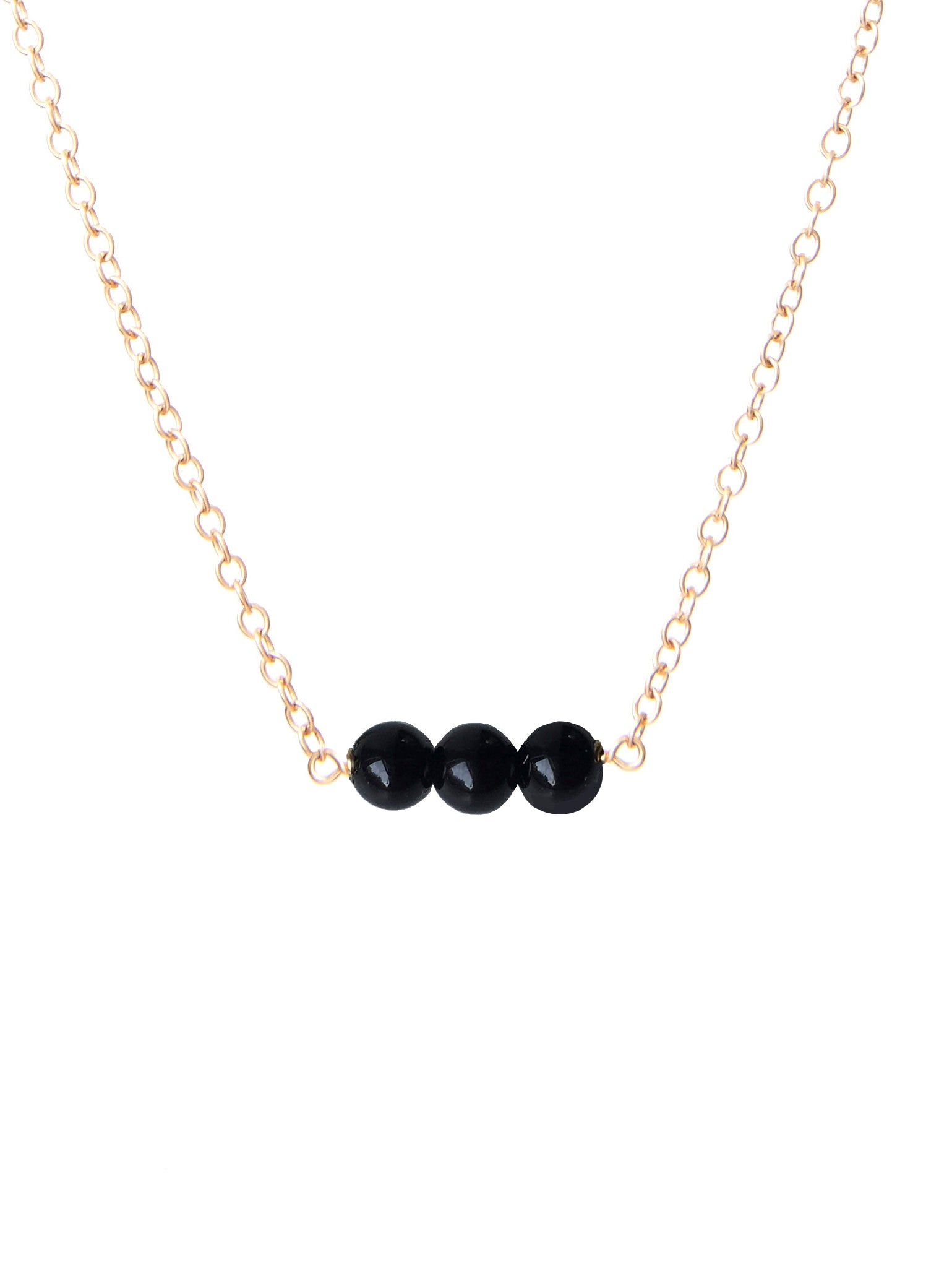 Taylor black beaded necklace