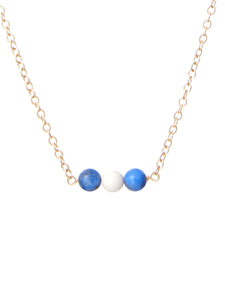 Taylor blue beaded necklace