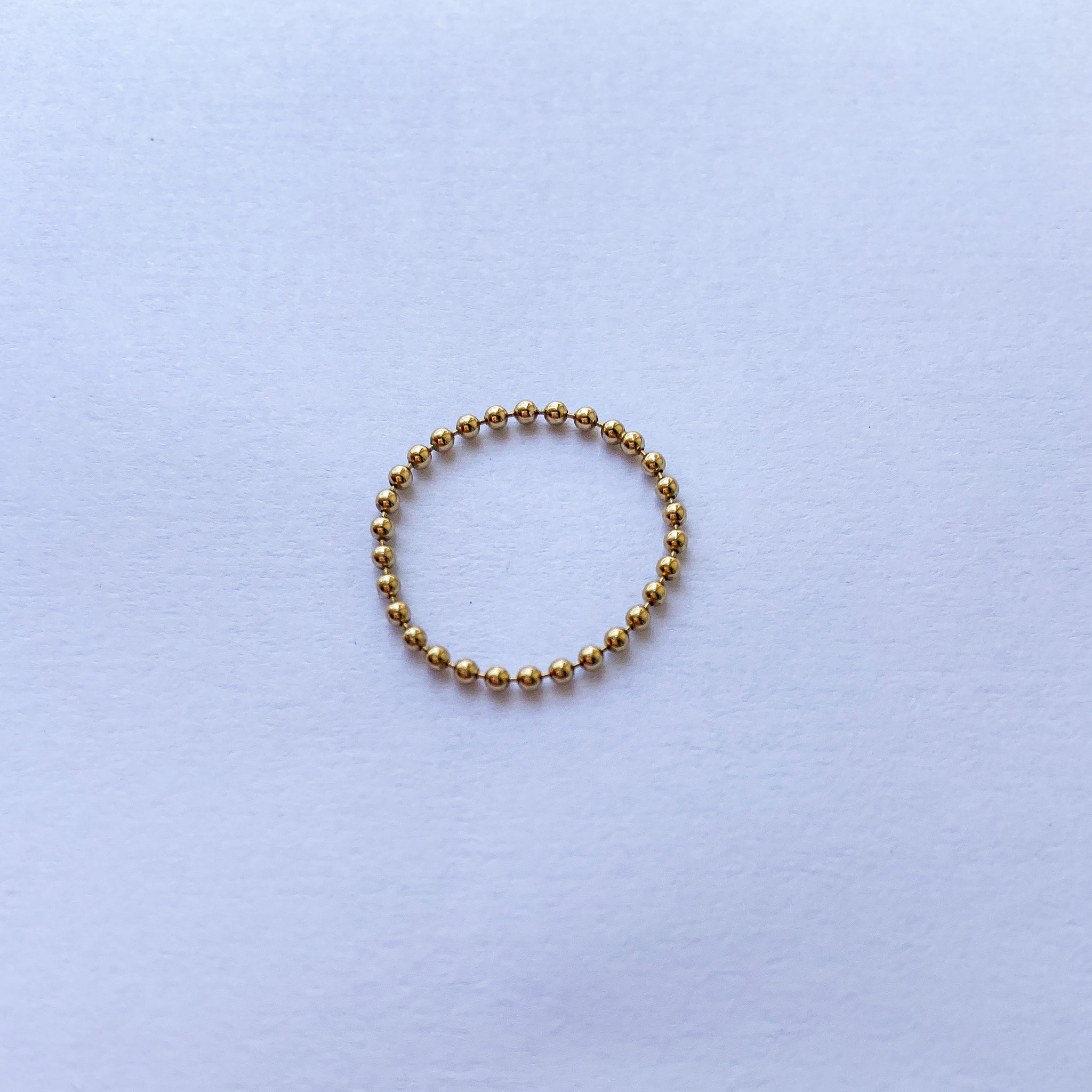 Small Beaded Stacking Ring