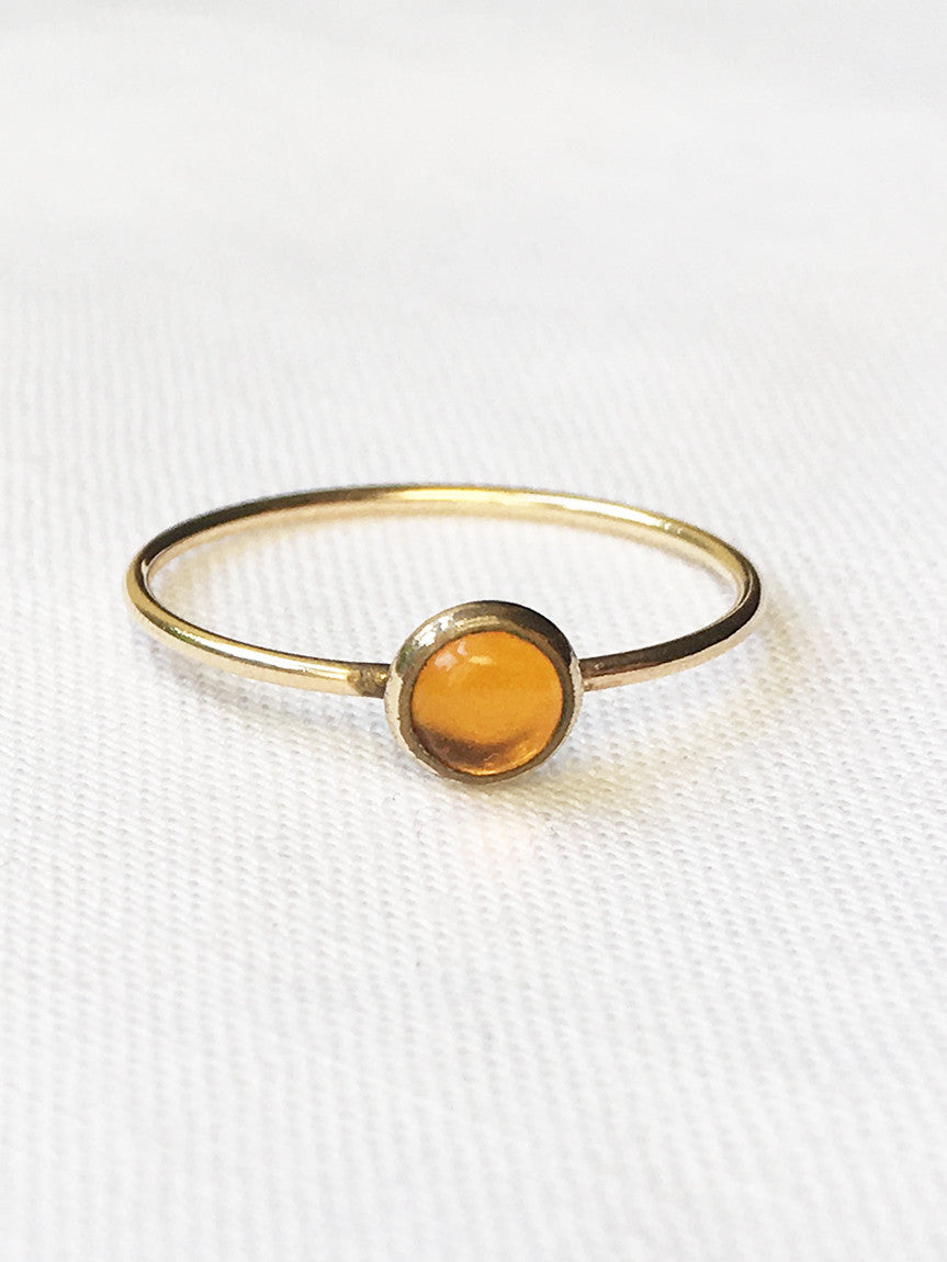 Sloane amber stacking ring