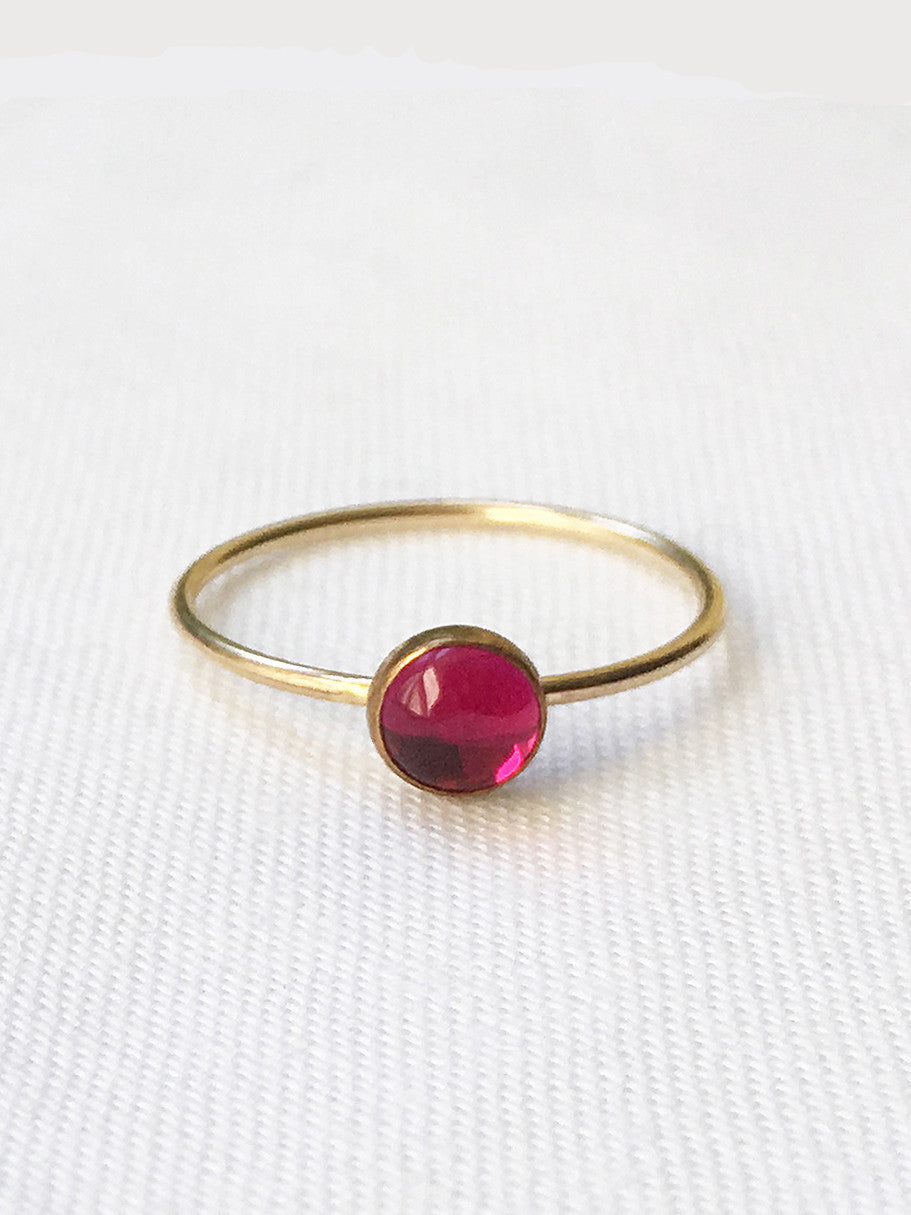 Sloane ruby stacking ring