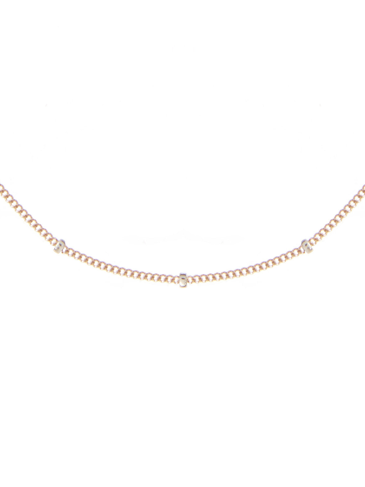 Beaded chain rose gold