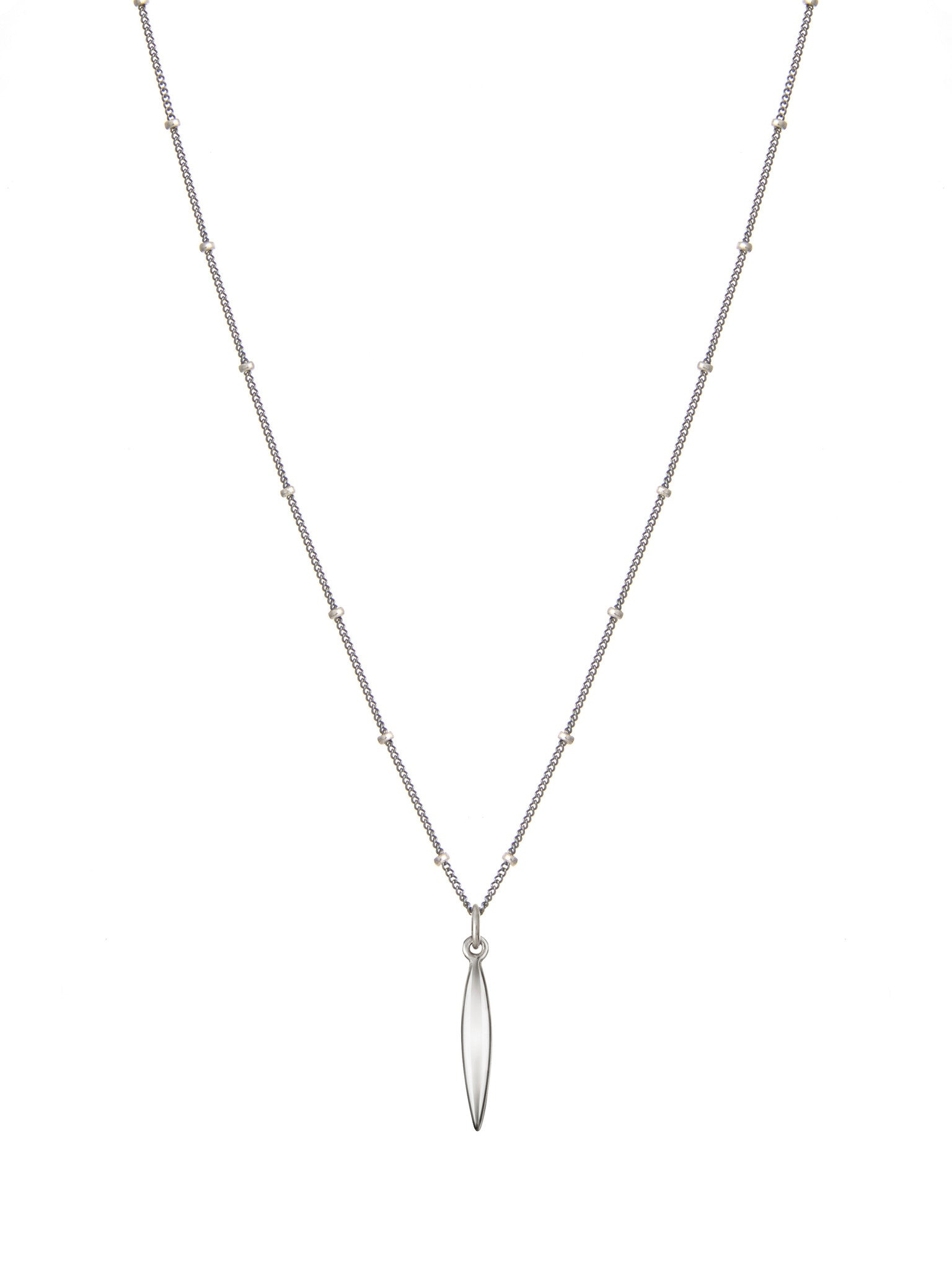 Serena blackened silver necklace