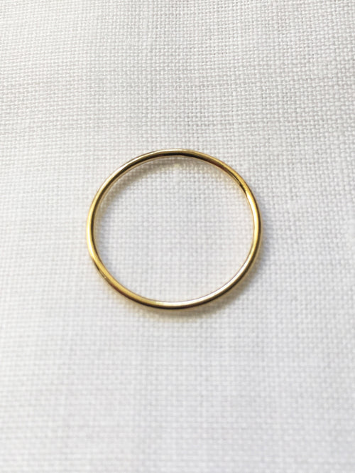 Skinny gold stacking ring