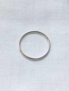 Skinny silver stacking ring