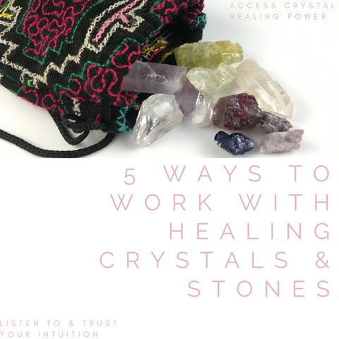 5 ways to work with crystals cover page