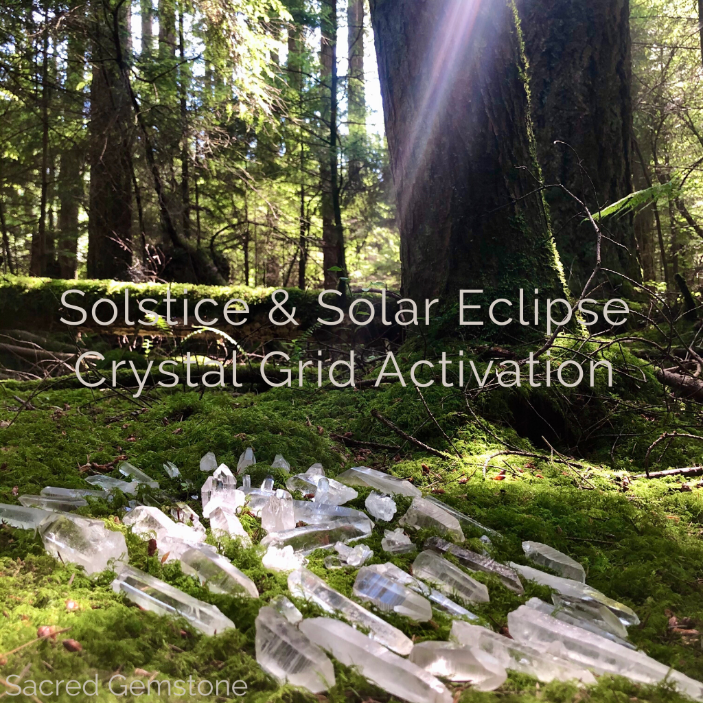 Solstice and Solar Eclipse Crystal Grid Blog