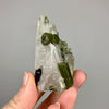 Green Tourmaline in Quartz Crystal Cluster